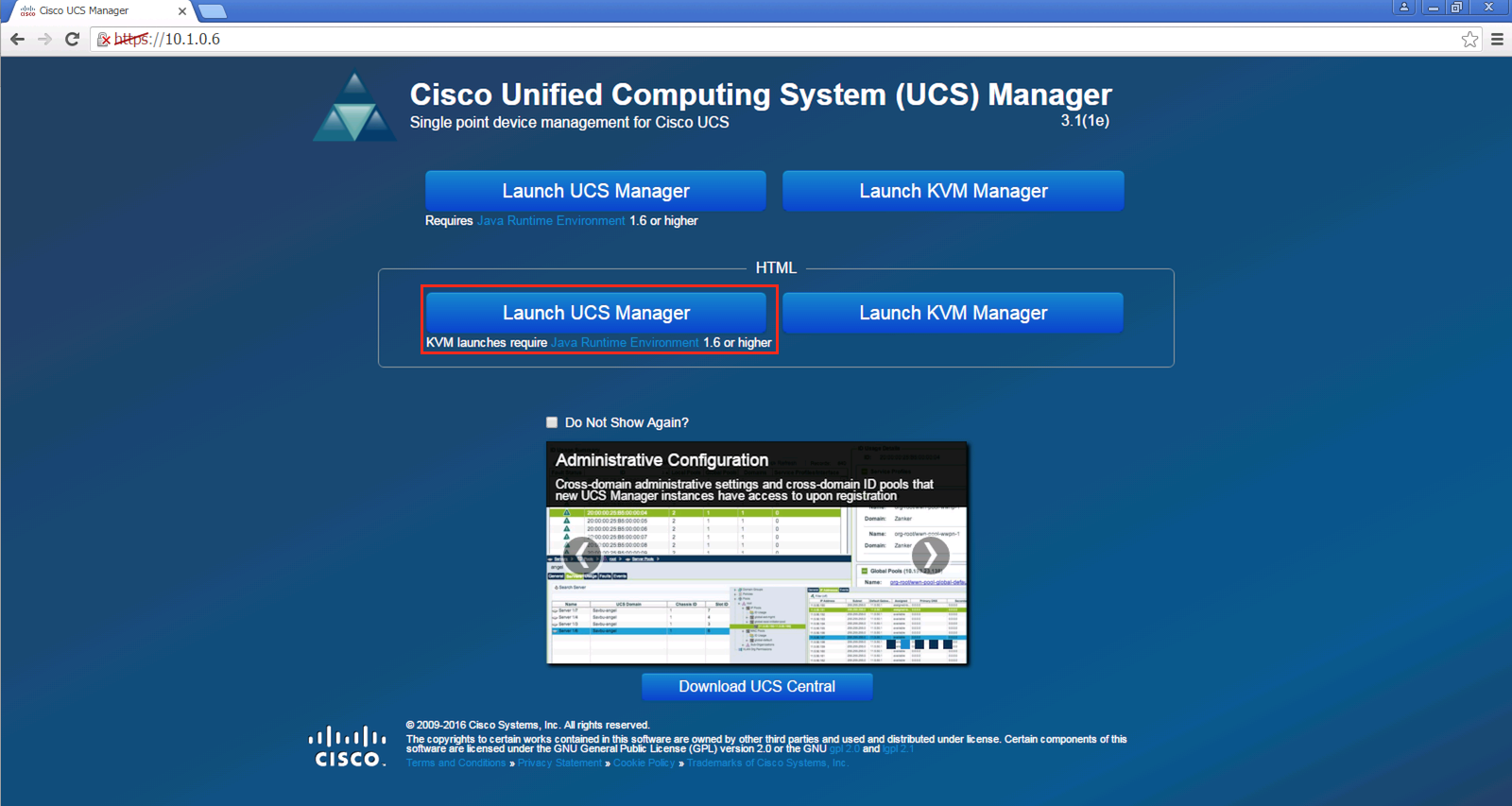 How To Connect To Cisco Ucs Manager